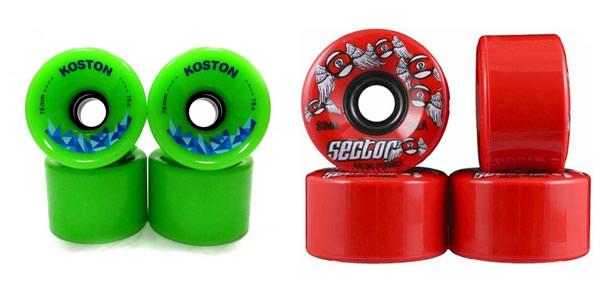 Diferentes tipos de ruedas para longboard