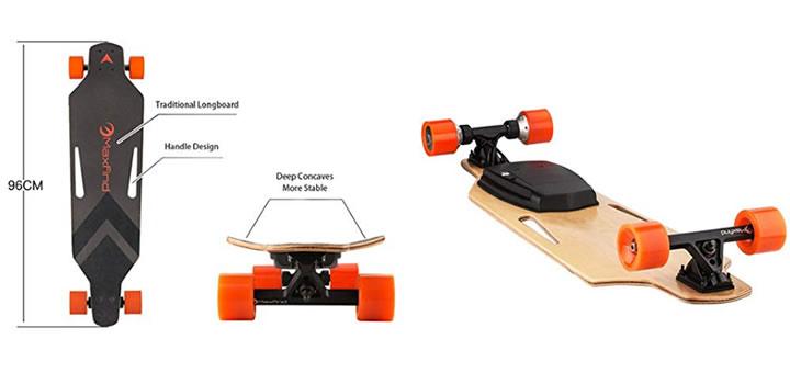 Maxfind Longboard Dual - Longboards eléctricos para regalar